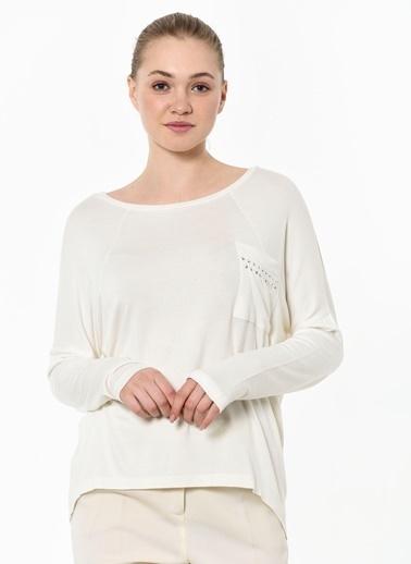 Caramel Uzun Kollu Bluz Ekru